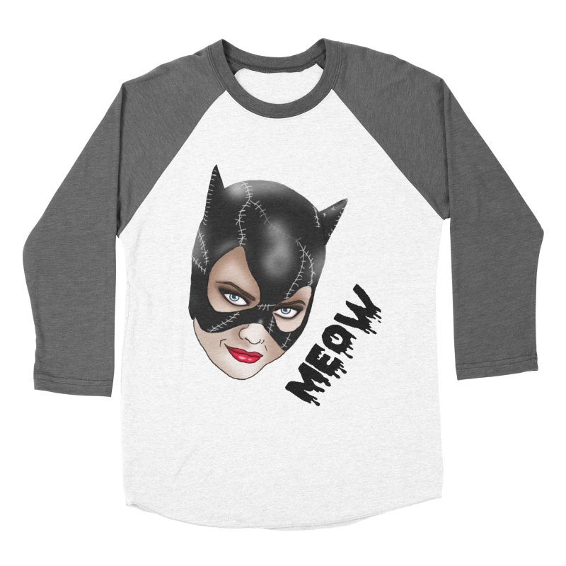 Catwoman Women's Baseball Triblend Longsleeve T-Shirt by coolsaysnev's Shop