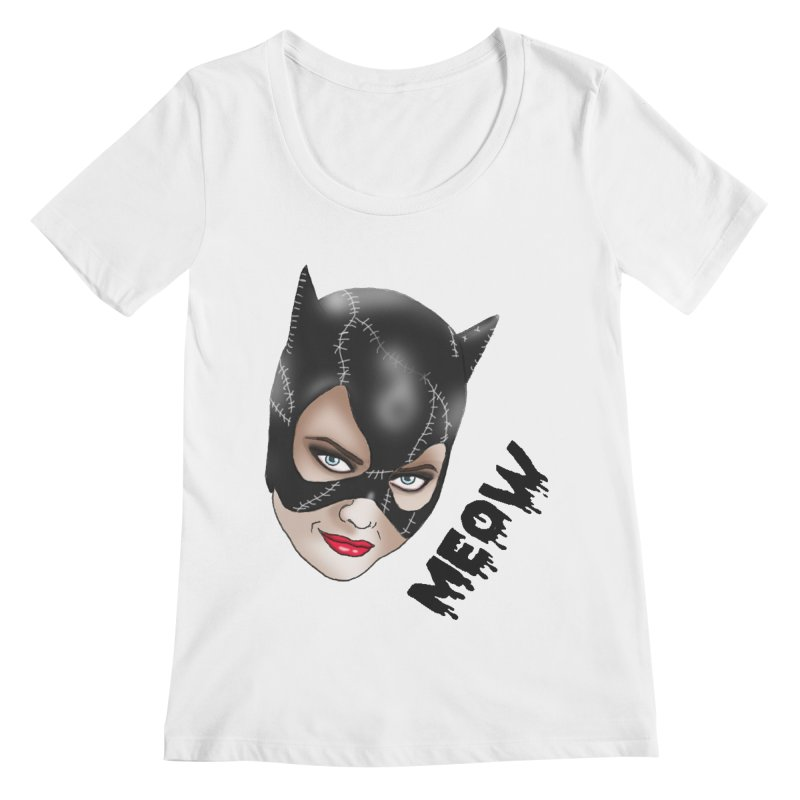 Catwoman Women's Scoopneck by coolsaysnev's Shop