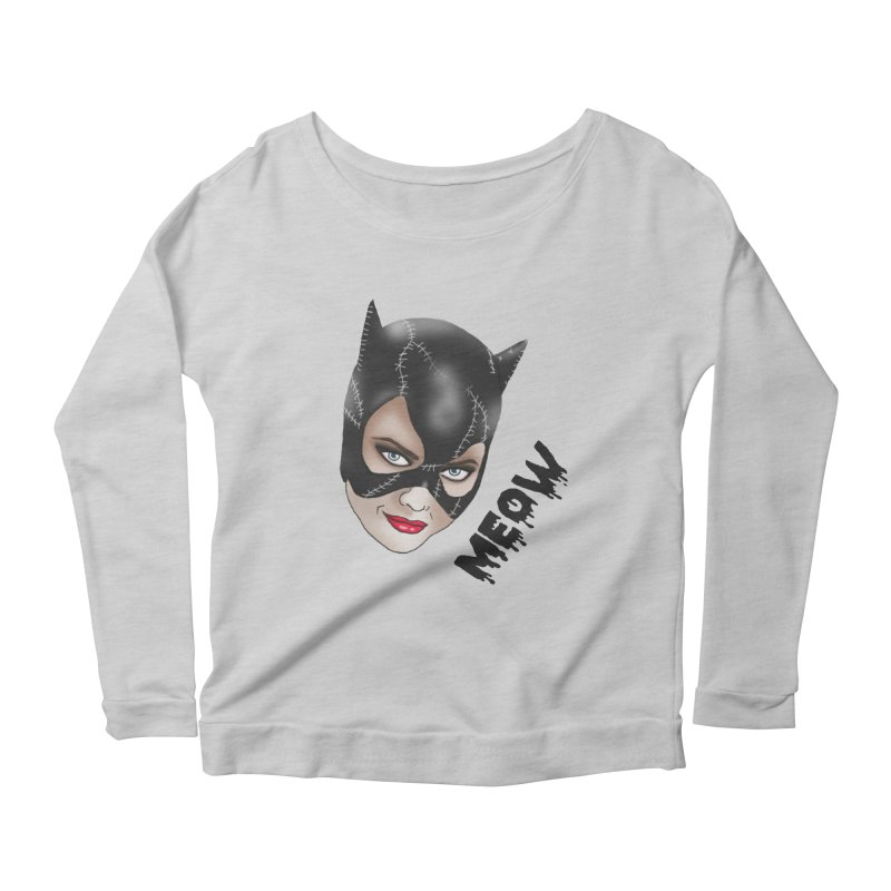 Catwoman Women's Longsleeve Scoopneck  by coolsaysnev's Shop