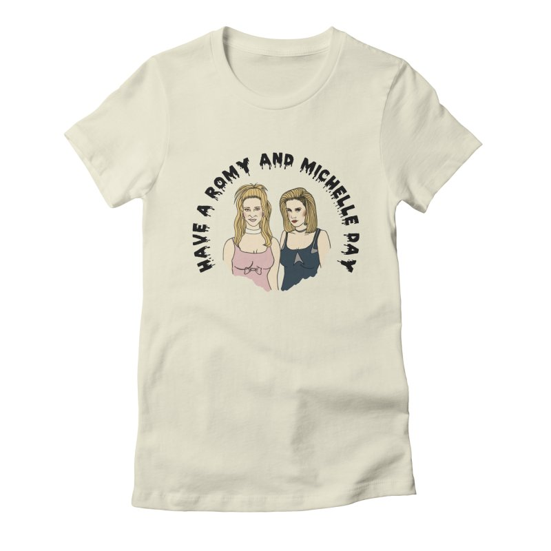Romey and Michelle  Women's Fitted T-Shirt by coolsaysnev's Shop