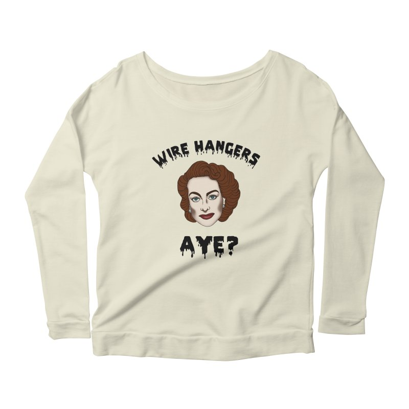 Joan Crawford Women's Longsleeve Scoopneck  by coolsaysnev's Shop
