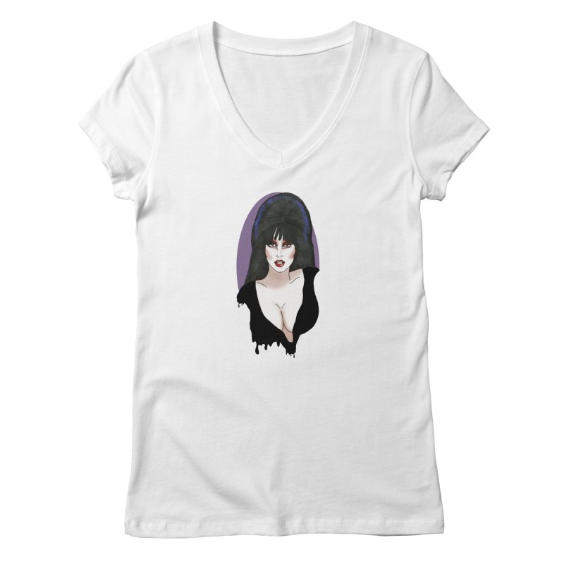 Elvira Women's V-Neck by coolsaysnev's Shop