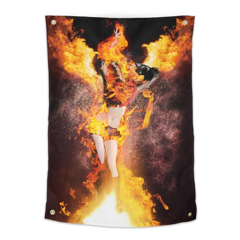 I am the Fyre Home Tapestry by Corbly4Art - Creative Fantasy Made Real