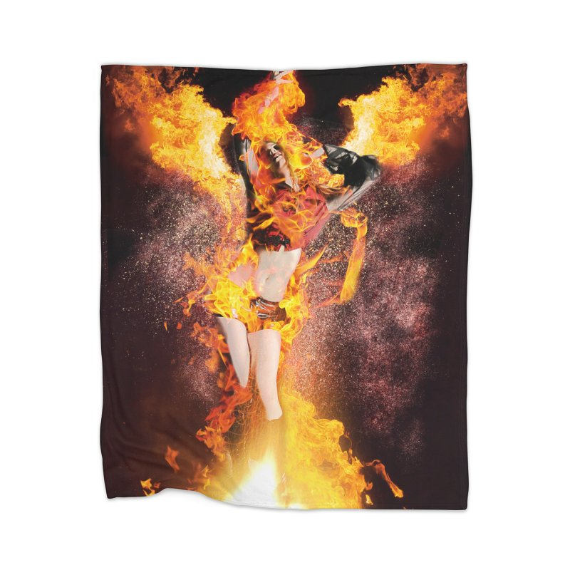 I am the Fyre Home Blanket by Corbly4Art - Creative Fantasy Made Real