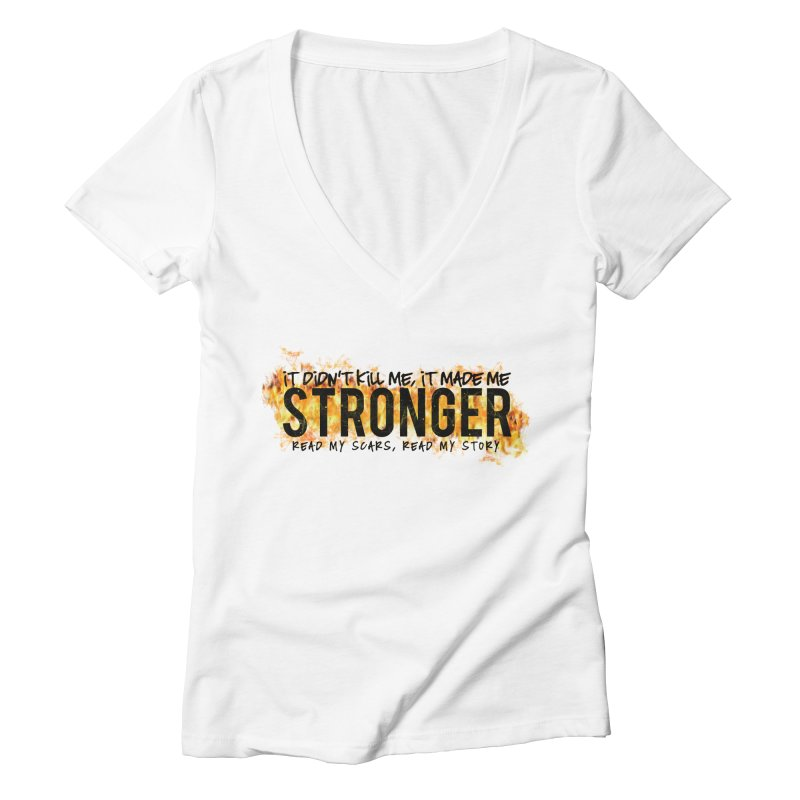 STRONGER Women's V-Neck by Corbly4Art - Creative Fantasy Made Real