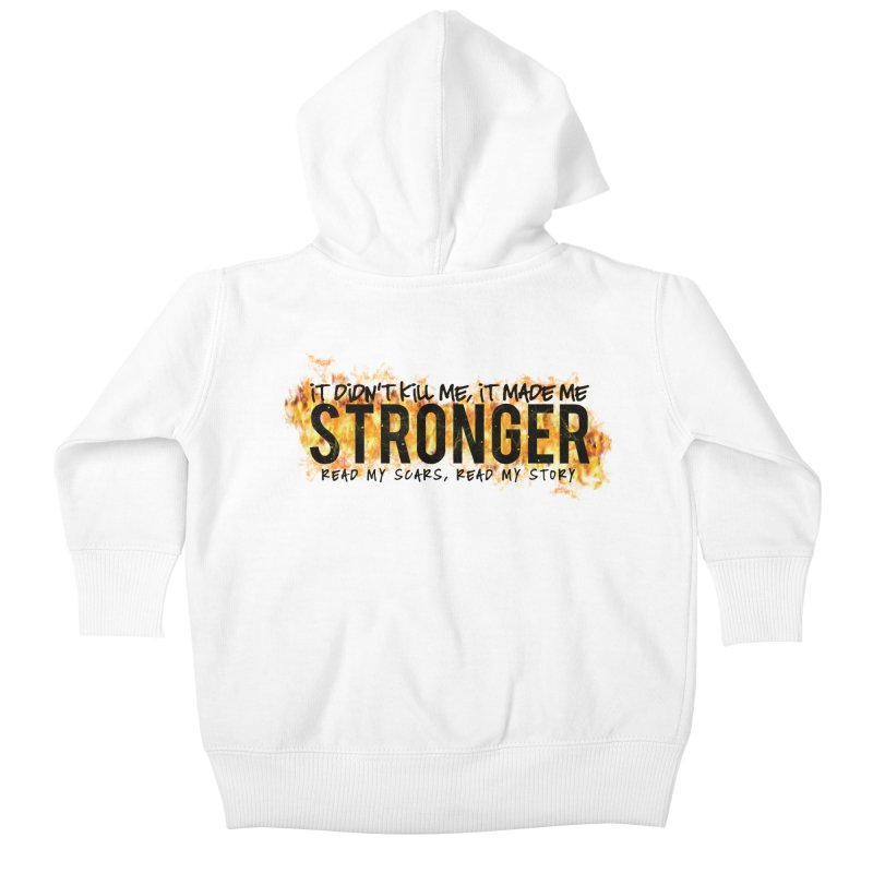 STRONGER Kids Baby Zip-Up Hoody by Corbly4Art - Creative Fantasy Made Real