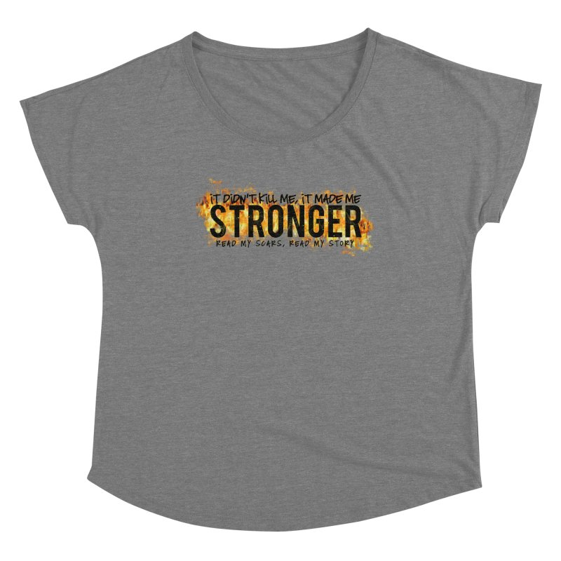 STRONGER Women's Scoop Neck by Corbly4Art - Creative Fantasy Made Real