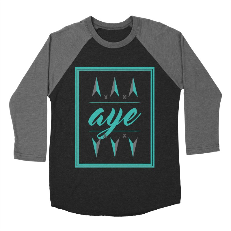 Ayeeee Men's Baseball Triblend T-Shirt by Cordelia Denise