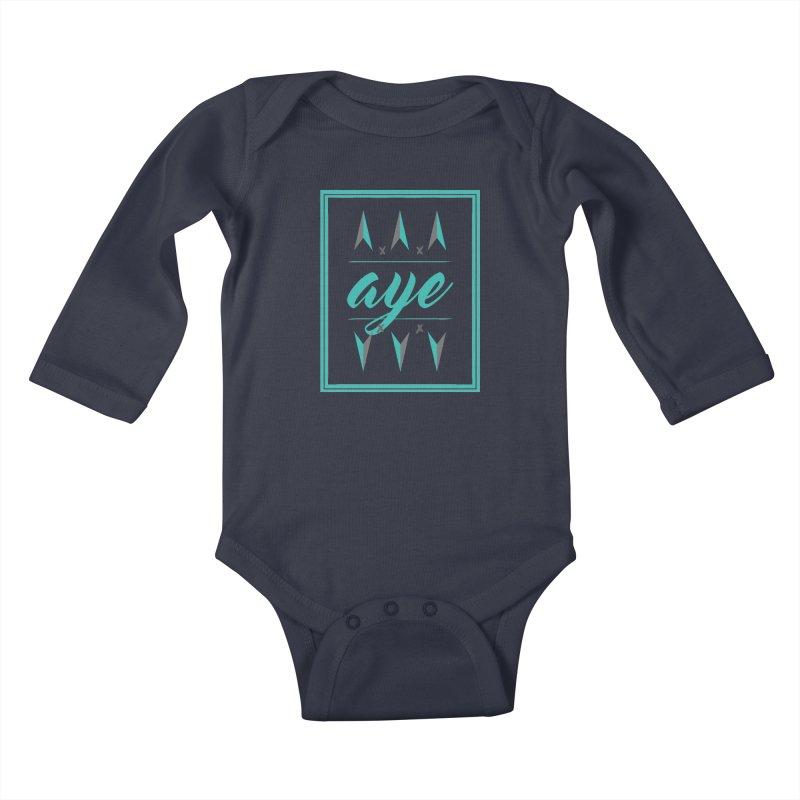 Ayeeee Kids Baby Longsleeve Bodysuit by Cordelia Denise