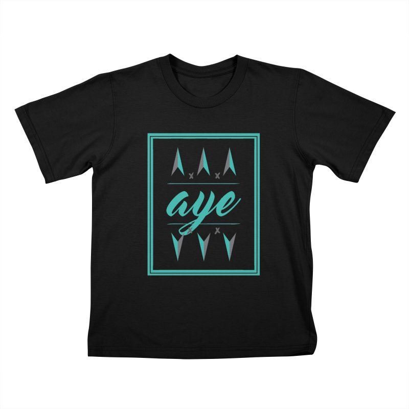 Ayeeee Kids T-Shirt by Cordelia Denise