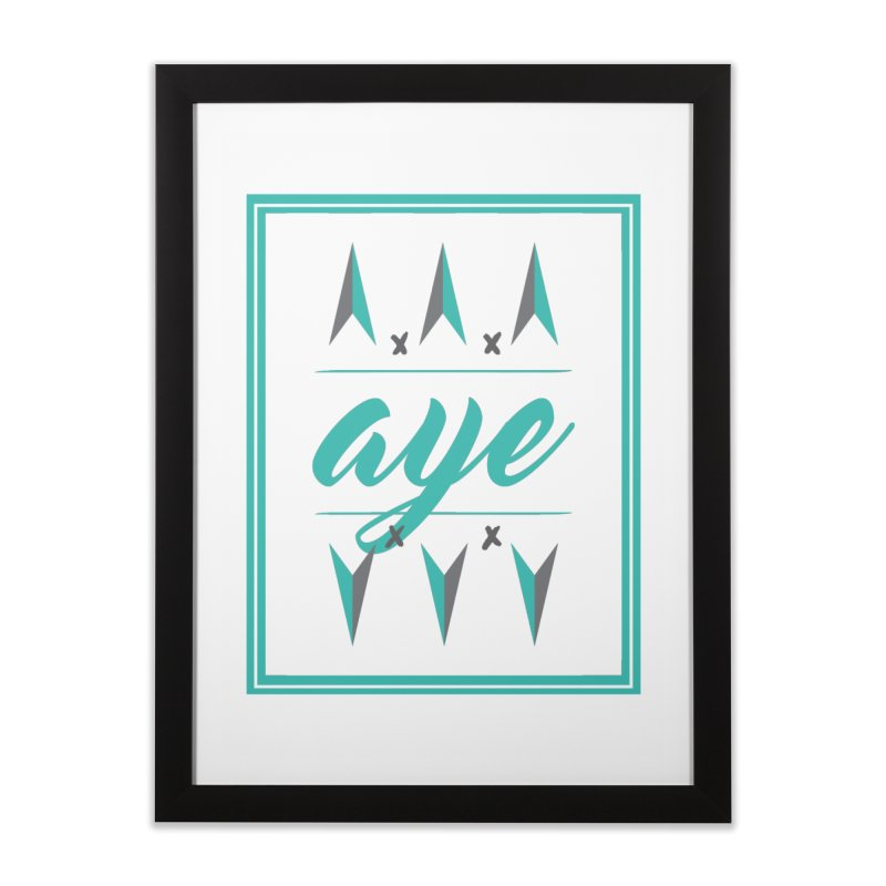 Ayeeee Home Framed Fine Art Print by Cordelia Denise