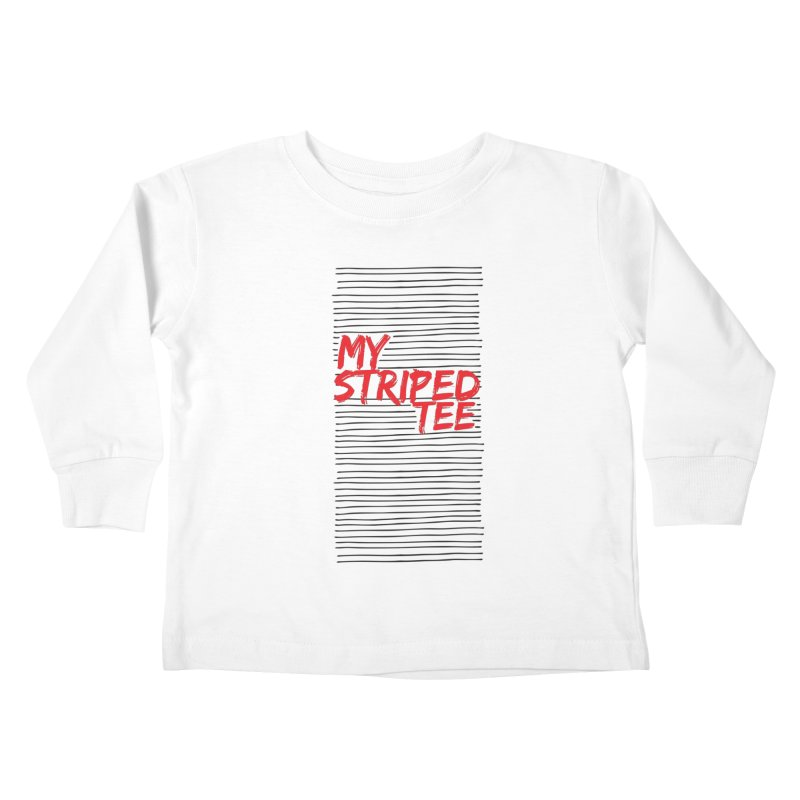 Striped Tee Kids Toddler Longsleeve T-Shirt by Cordelia Denise