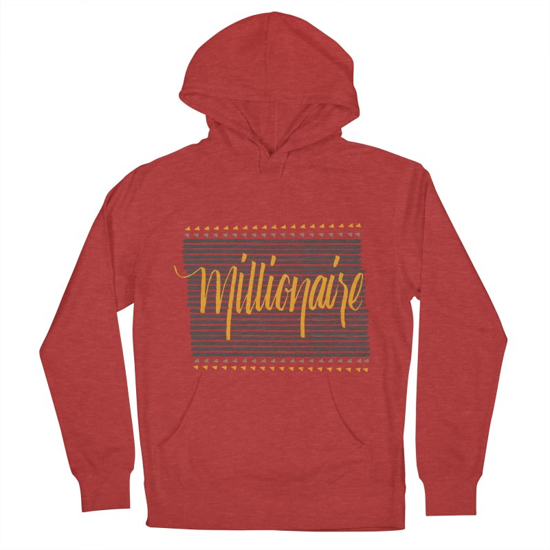 Millionaire-Orange/Black Women's Pullover Hoody by Cordelia Denise