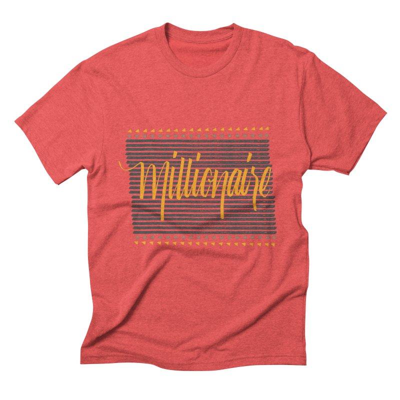 Millionaire-Orange/Black Men's Triblend T-Shirt by Cordelia Denise