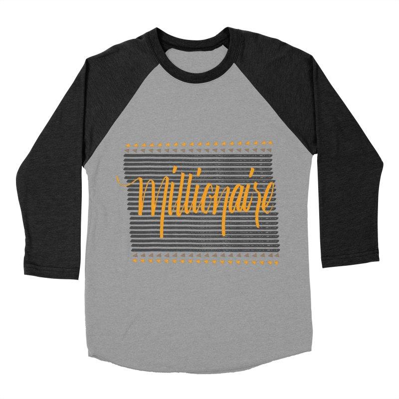 Millionaire-Orange/Black Women's Baseball Triblend T-Shirt by Cordelia Denise