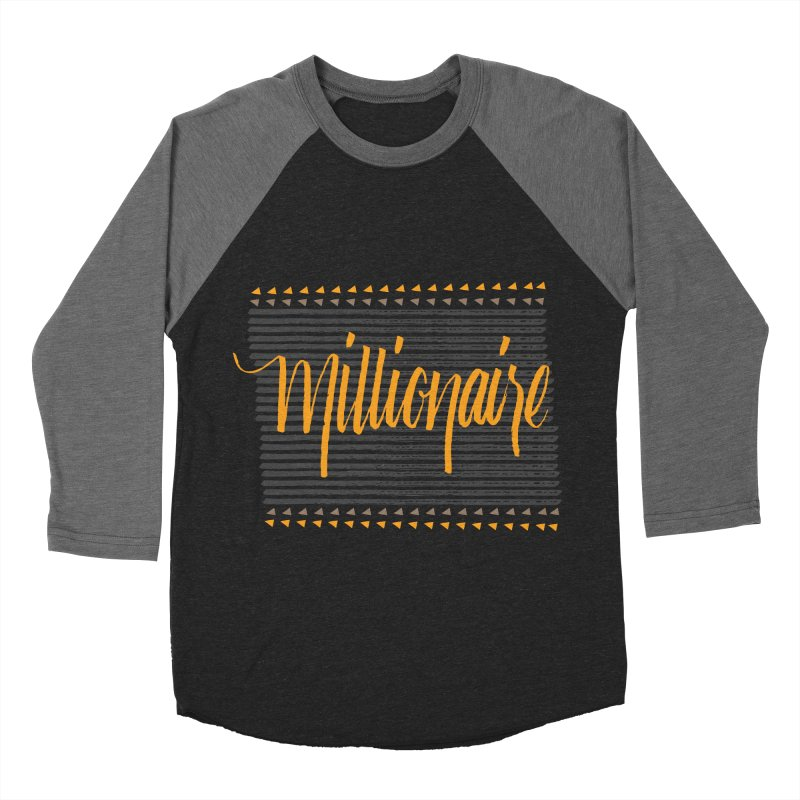 Millionaire-Orange/Black Men's Baseball Triblend T-Shirt by Cordelia Denise