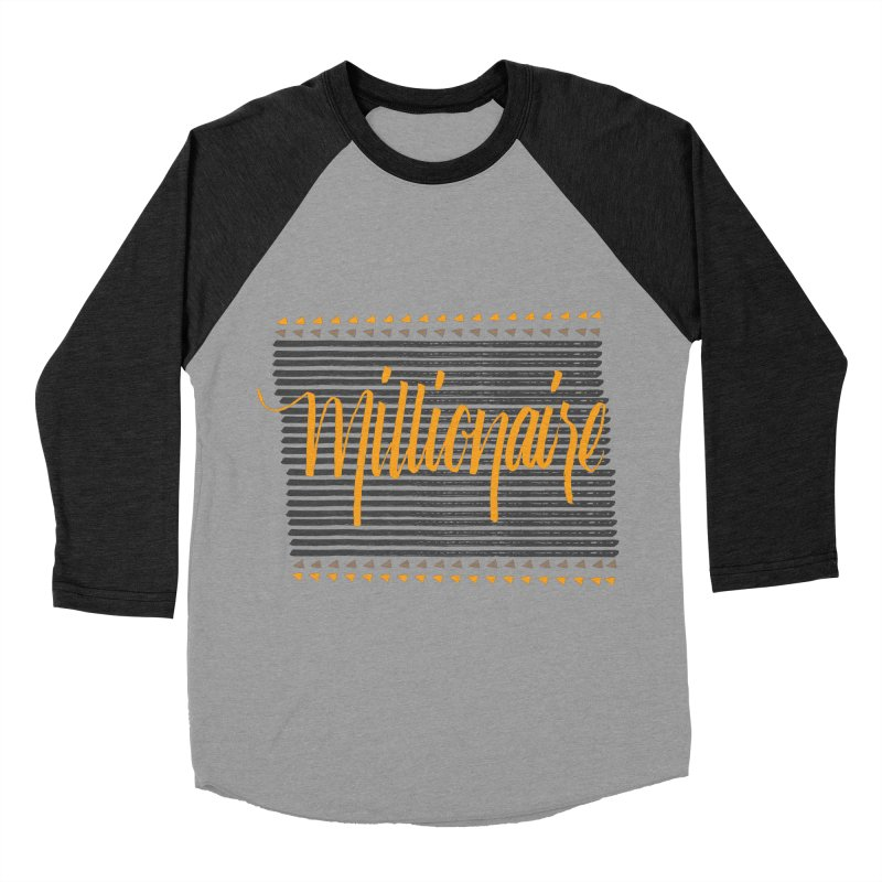 Millionaire-Orange/Black Men's Baseball Triblend T-Shirt by Cordelia Denise