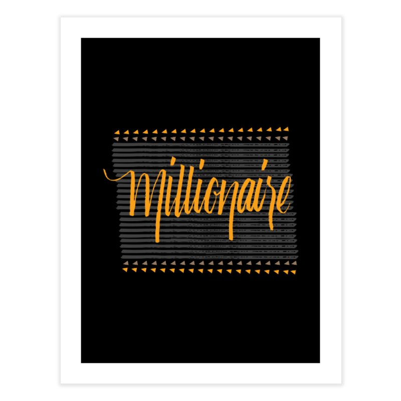 Millionaire-Orange/Black Home Fine Art Print by Cordelia Denise