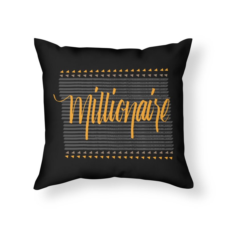 Millionaire-Orange/Black Home Throw Pillow by Cordelia Denise