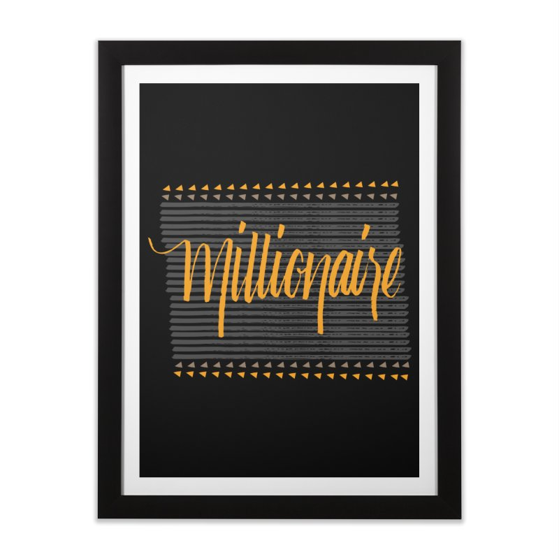 Millionaire-Orange/Black Home Framed Fine Art Print by Cordelia Denise