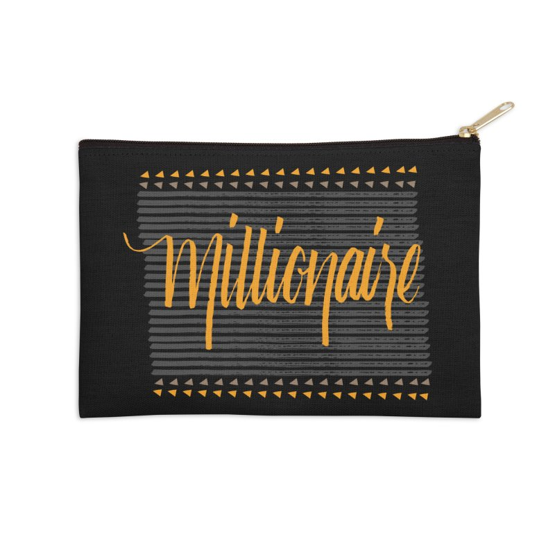 Millionaire-Orange/Black Accessories Zip Pouch by Cordelia Denise