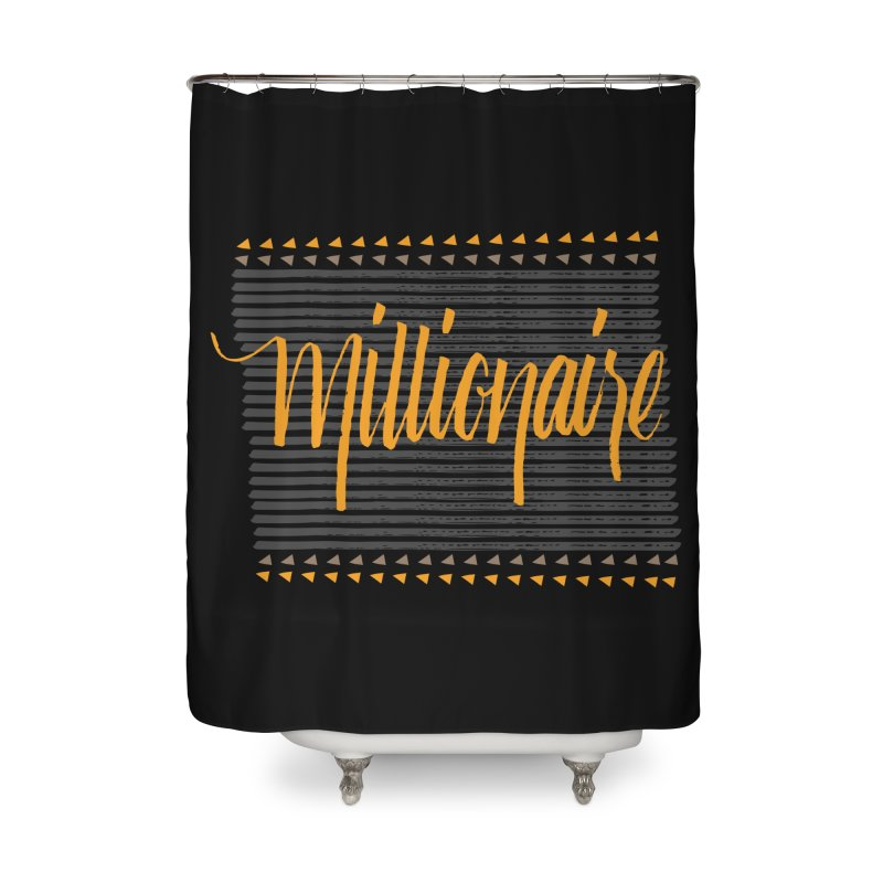 Millionaire-Orange/Black Home Shower Curtain by Cordelia Denise