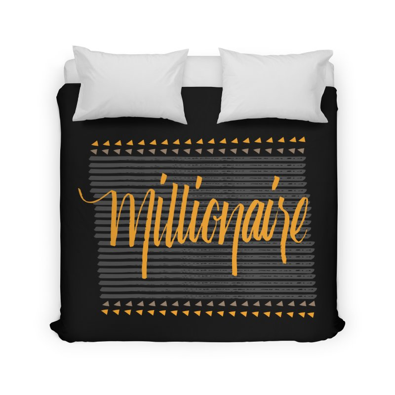 Millionaire-Orange/Black Home Duvet by Cordelia Denise