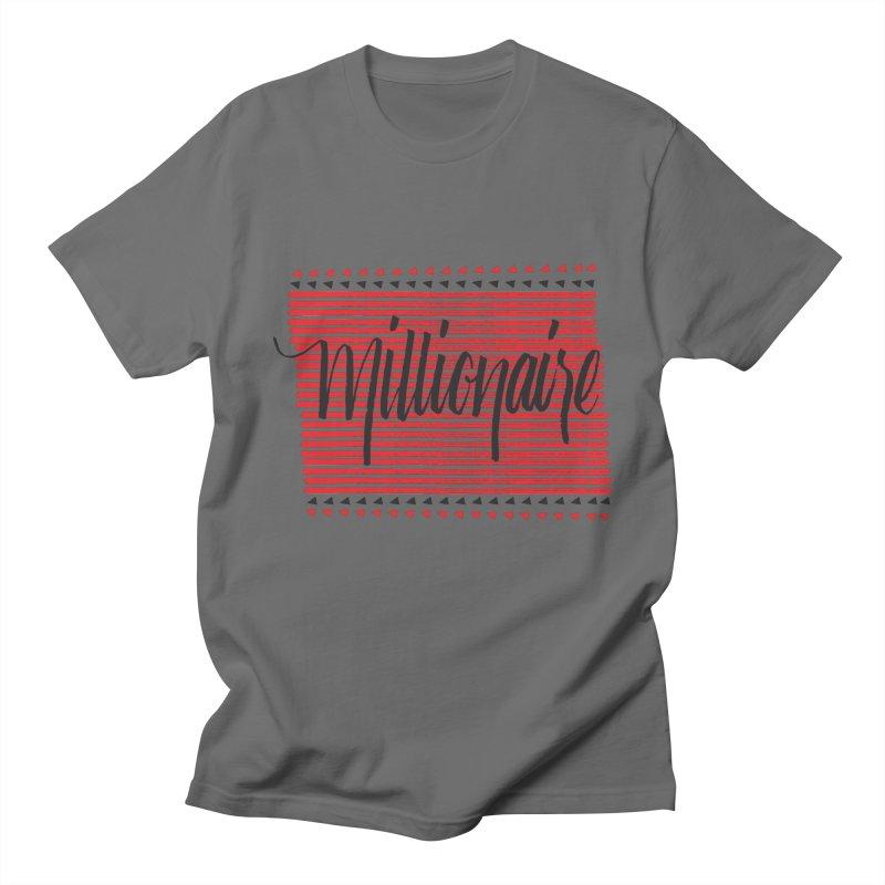 Millionaire-Black/Red Men's T-Shirt by Cordelia Denise
