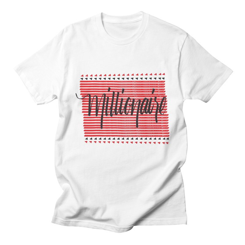 Millionaire-Black/Red Men's T-shirt by Cordelia Denise