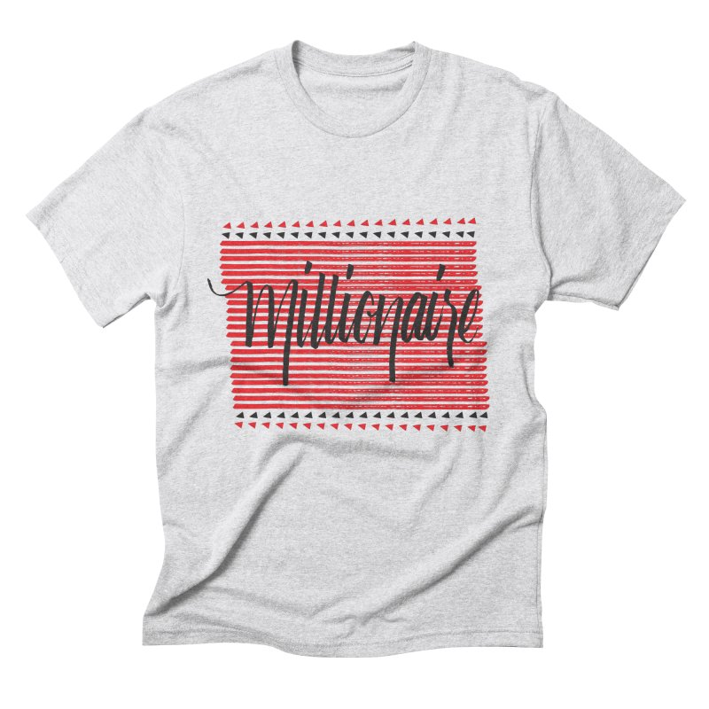 Millionaire-Black/Red Men's Triblend T-shirt by Cordelia Denise