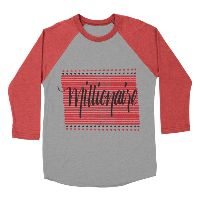 Millionaire-Black/Red Men's Baseball Triblend T-Shirt by Cordelia Denise