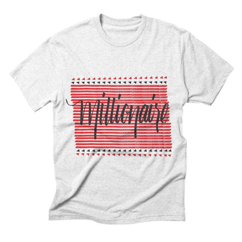 Millionaire-Black/Red in Men's Triblend T-shirt Heather White by Cordelia Denise