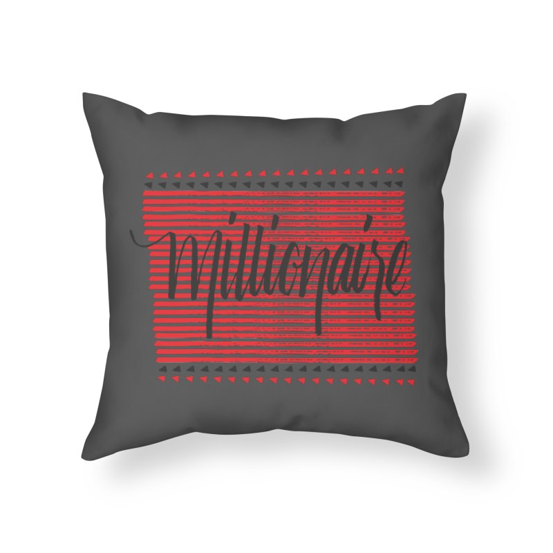 Millionaire-Black/Red Home Throw Pillow by Cordelia Denise