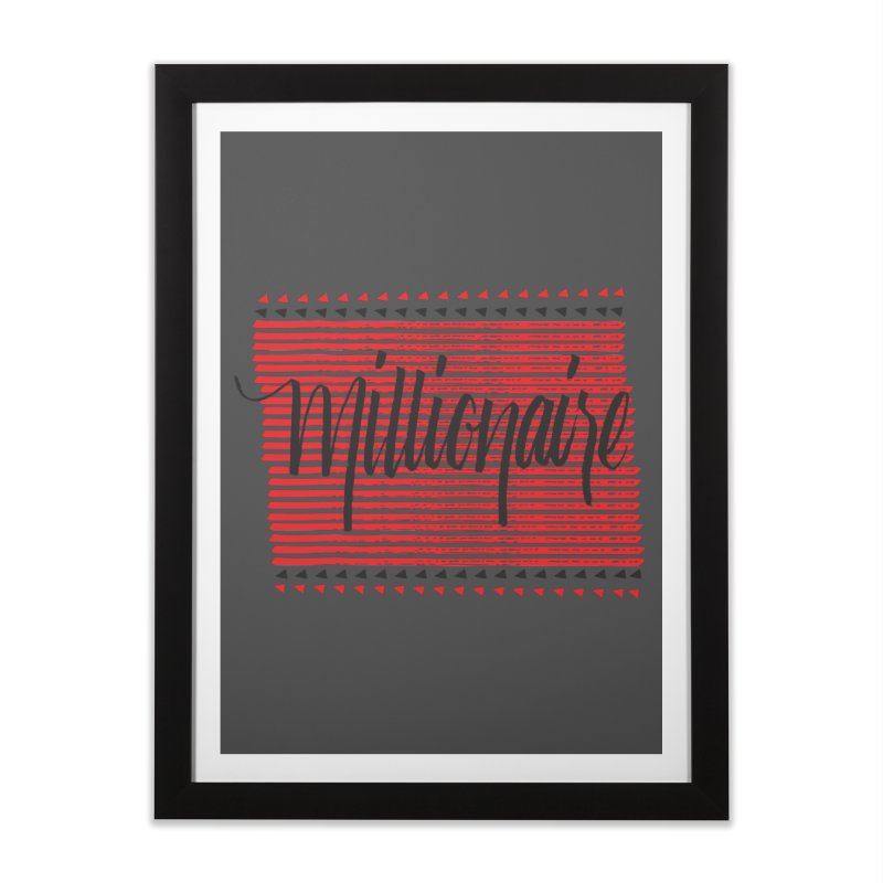 Millionaire-Black/Red Home Framed Fine Art Print by Cordelia Denise