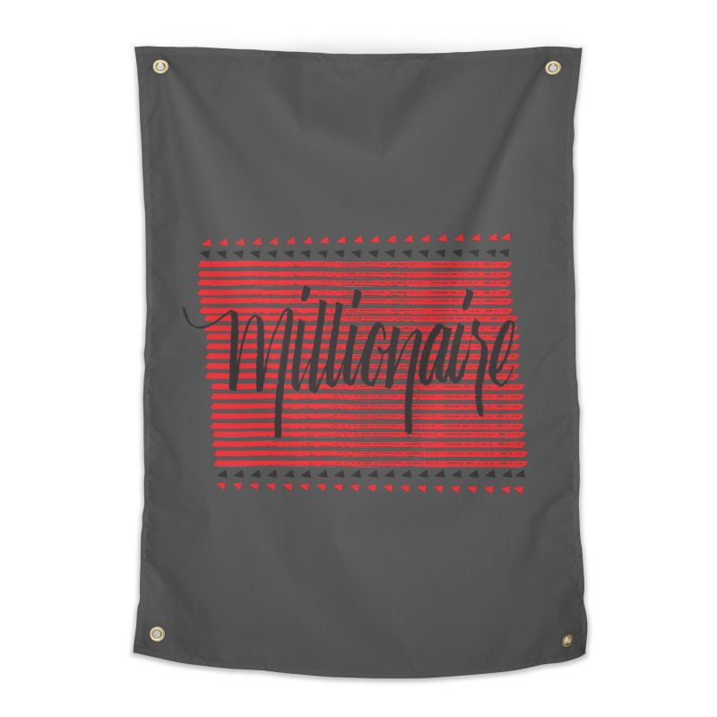 Millionaire-Black/Red Home Tapestry by Cordelia Denise