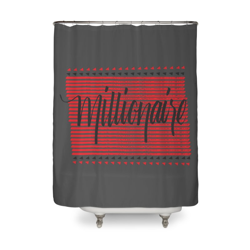 Millionaire-Black/Red Home Shower Curtain by Cordelia Denise