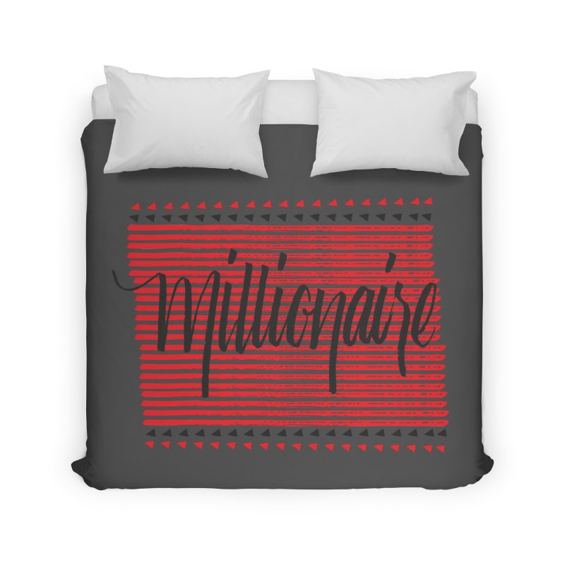 Millionaire-Black/Red Home Duvet by Cordelia Denise