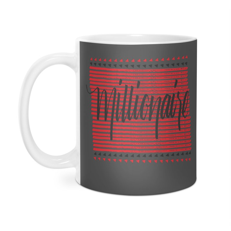 Millionaire-Black/Red Accessories Mug by Cordelia Denise