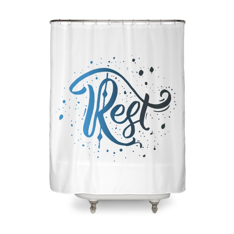 Rest Home Shower Curtain by Cordelia Denise