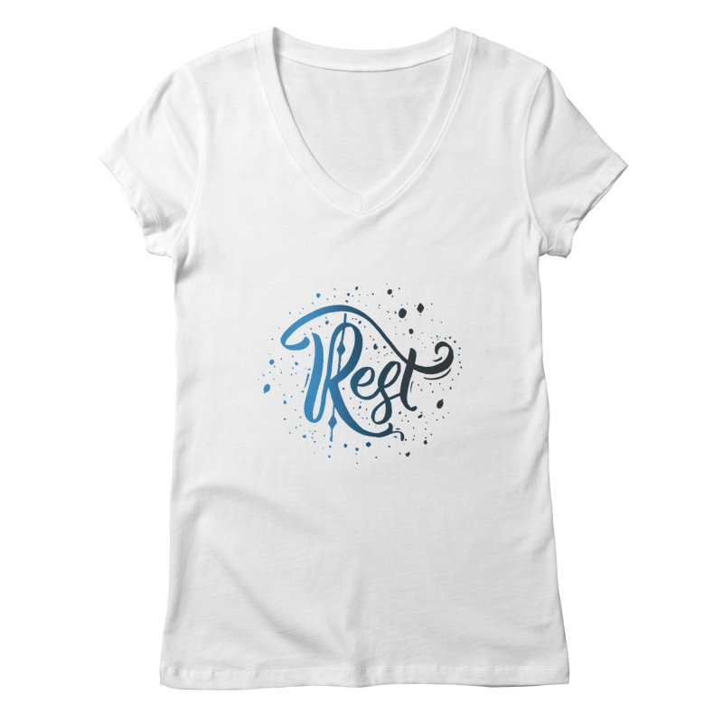 Rest Women's V-Neck by Cordelia Denise