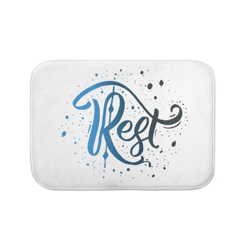 Rest Home Bath Mat by Cordelia Denise