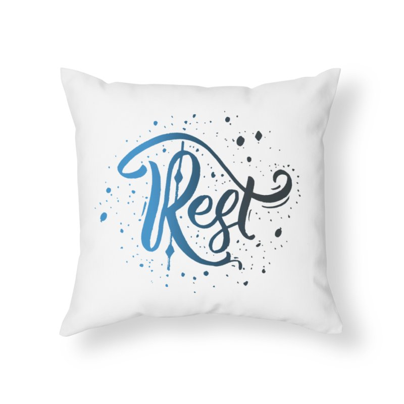 Rest Home Throw Pillow by Cordelia Denise