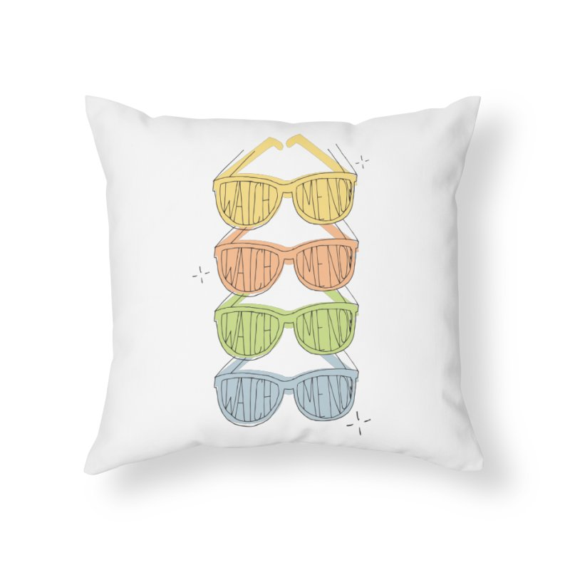 Like A TV in Throw Pillow by Cordelia Denise