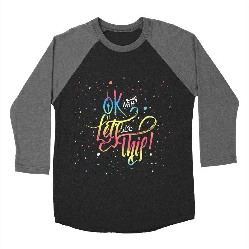 Ok Nah! Men's Baseball Triblend T-Shirt by Cordelia Denise