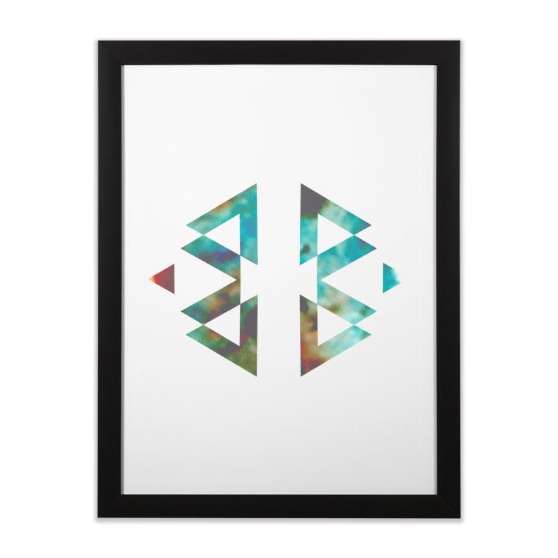 Geometriz Home Framed Fine Art Print by Cordelia Denise