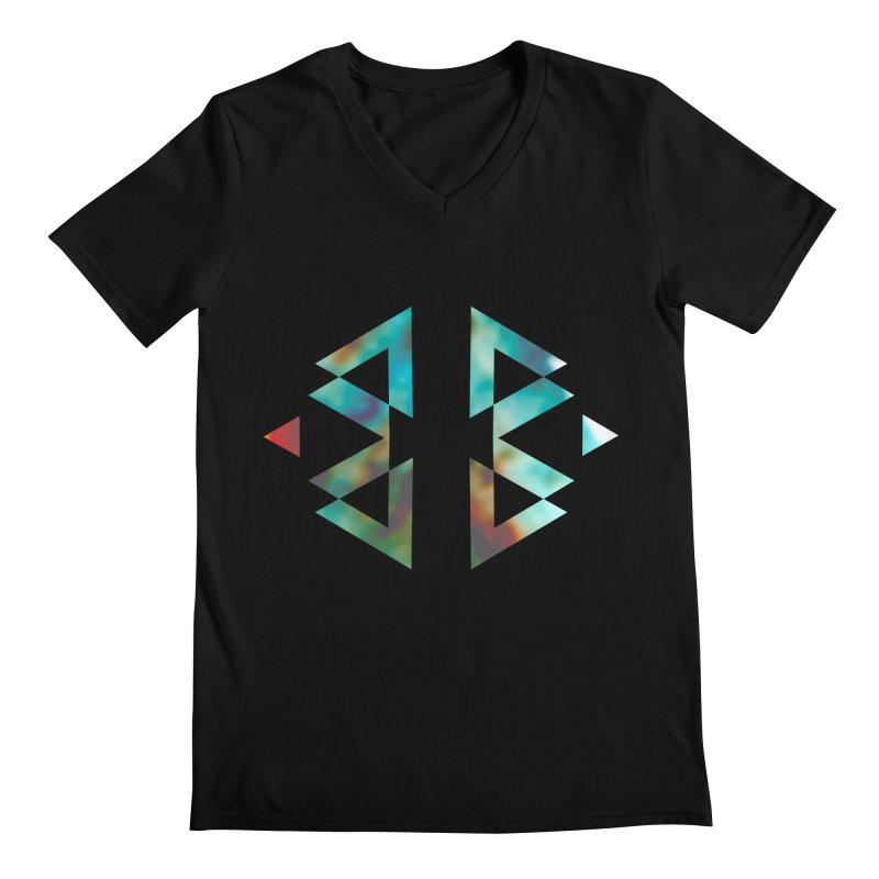 Geometriz Men's V-Neck by Cordelia Denise
