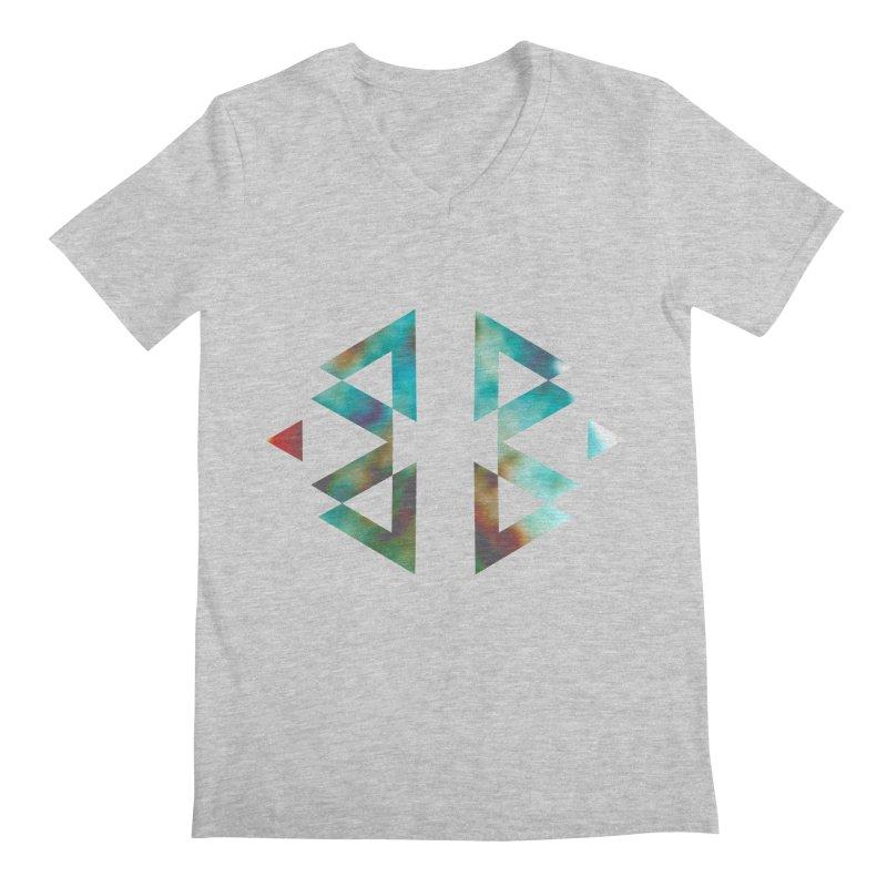 Geometriz Men's V-Neck by Cordelia Denise