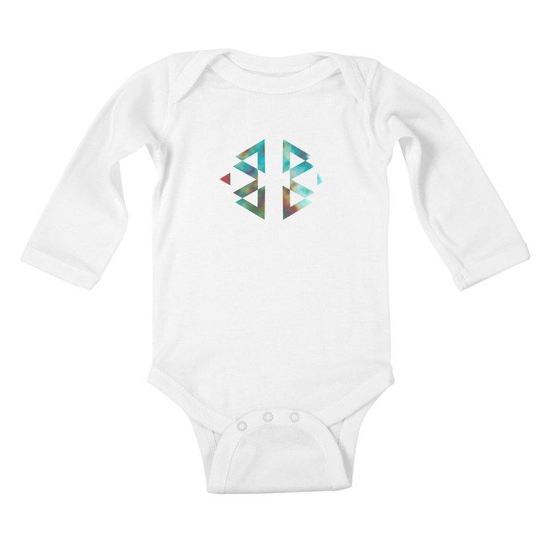 Geometriz Kids Baby Longsleeve Bodysuit by Cordelia Denise