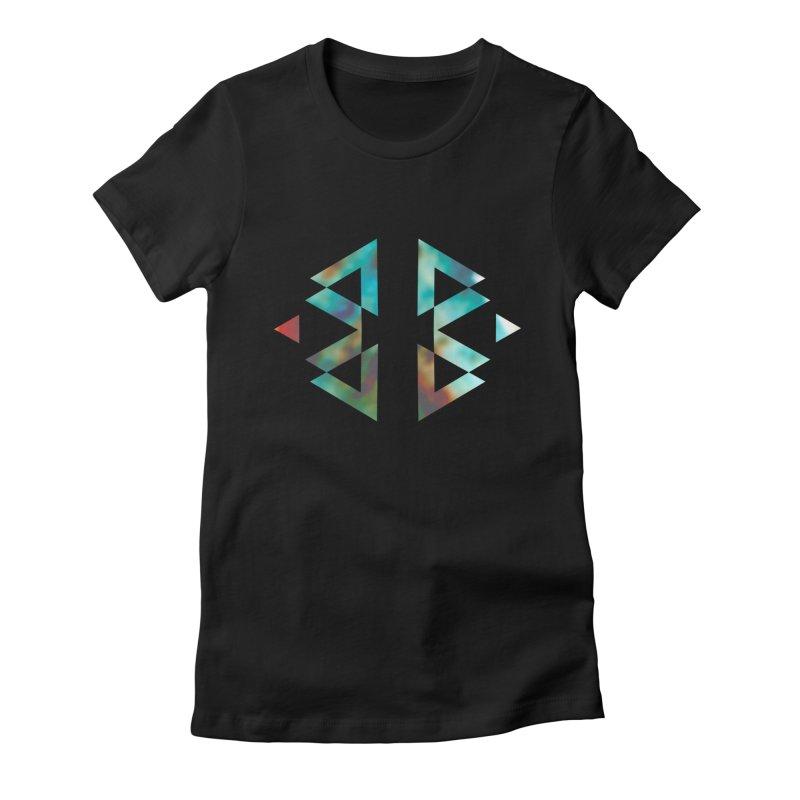 Geometriz Women's Fitted T-Shirt by Cordelia Denise