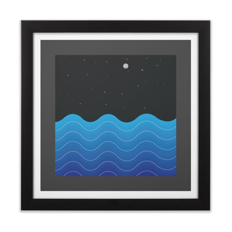 Night Sea Home Framed Fine Art Print by Cordelia Denise